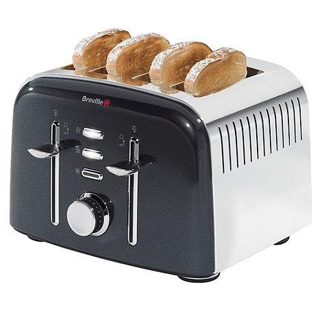 Breville - Aurora VTT502 black four-slice toaster