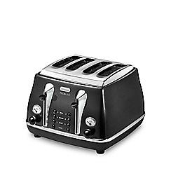 DeLonghi - Black CTOM4003.BK four-slice Micalite toaster