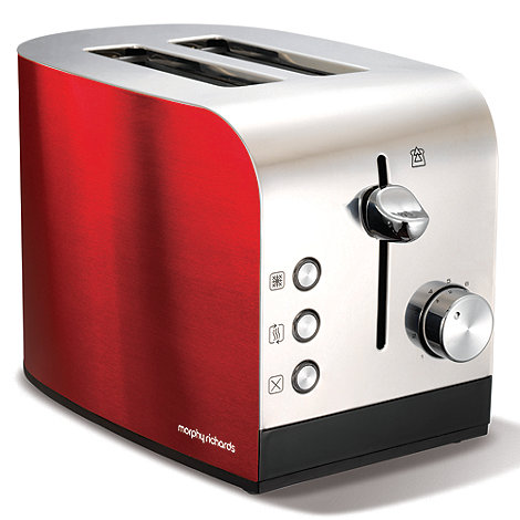 Morphy Richards - Red +Accents+ 44206 two slice toaster