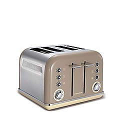 Morphy Richards - Retro accents 4 slice toaster - barley 242008