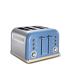 Morphy Richards - Cornflower Blue 'Accents' retro 4 slice toaster 242007