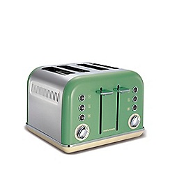 Morphy Richards - Sage Green 'Accents' retro 4 slice toaster 242006