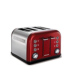 Morphy Richards - Accents 4 slice toaster - red 242004