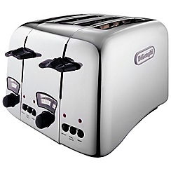 DeLonghi - 'Argento' 4 slice toaster red CT04.R1