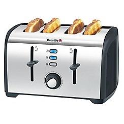 Breville - Stainless steel 4 slice toaster VTT377