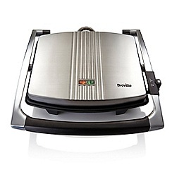 Breville - Stainless steel 4 slice sandwich maker VST026