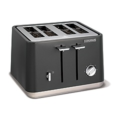 Morphy Richards - Titanium 'Aspect' 4 slice toaster 240004