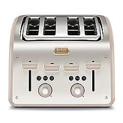 Tefal - Maison 4-slot Oatmeal Grey & Stainless Steel toaster TT770AUK