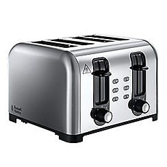 Russell Hobbs - Stainless steel 4 slice wide slot toaster 23540