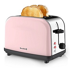 Breville - Pick & Mix Strawberry Cream 2 Slice Toaster VTT720