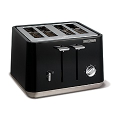 Morphy Richards - Black 'Aspect' 4 slice toaster 240002
