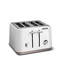 Morphy Richards - White 'Aspect' 4 slice toaster 240003