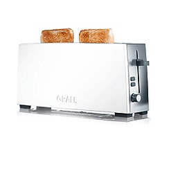 Graef - White long slot toaster to91uk