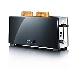 Graef - Black long slot toaster to92uk