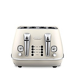 DeLonghi - Pure white Distinta 4 slice toaster CTI4003.W