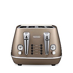 DeLonghi - Distinta 4 slice toaster future bronze cti4003.bz