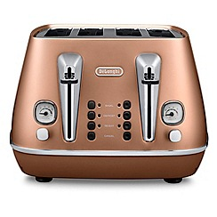 DeLonghi - Distinta 4 slice toaster style copper cti4003.cp