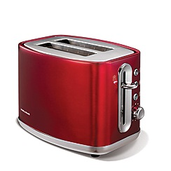 Morphy Richards - Red 'elipta' 2 slice toaster 220004