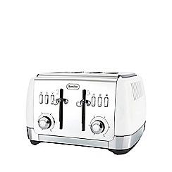 Breville - Strata matt white 4 slice toaster VTT762