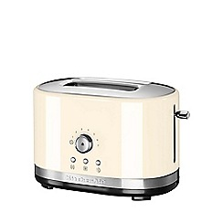 KitchenAid - Almond cream 2-Slot Manual Control Toaster 5KMT2116BAC