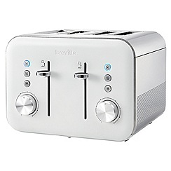 Breville - High gloss white 4 slice toaster VTT687