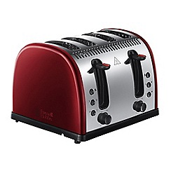 Russell Hobbs - 'Legacy' 4 slice toaster in red 21301