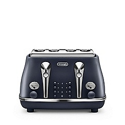 DeLonghi - Ocean blue 'Elements' toaster CTOE4003.BL