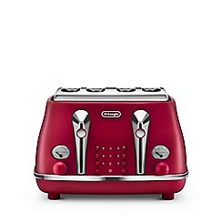 DeLonghi - Flame red 'Elements' toaster CTOE4003.R