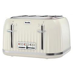 Breville - 'Impressions' vanilla cream 4 slice toaster VTT702