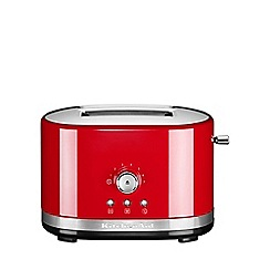 KitchenAid - Empire red 2-Slot Manual Control Toaster 5KMT2116BER