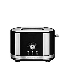 KitchenAid - Onyx black 2-Slot Manual Control Toaster 5KMT2116BOB