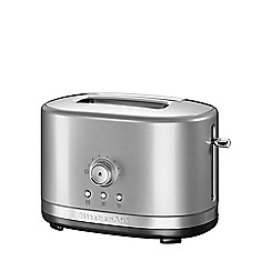 KitchenAid - Contour silver 2-Slot Manual Control Toaster 5KMT2116BCU