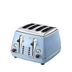 DeLonghi - Blue 'Vintage Icona' 4 slice toaster CTOV4003.AZ