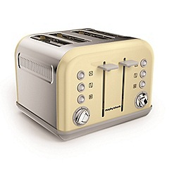 Morphy Richards - Cream 'Accents' 4 slice toaster 242033