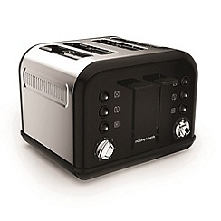 Morphy Richards - Black 'Accents' 4 slice toaster 242031