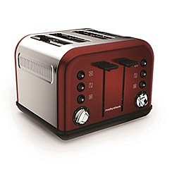 Morphy Richards - Red 'Accents' 4 slice toaster 242030