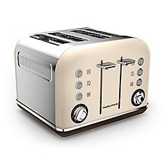 Morphy Richards - Sand 'Accents' retro traditional 4 slice toaster 242101