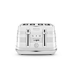 DeLonghi - White avvolta 4 slice toaster CTA4003.W