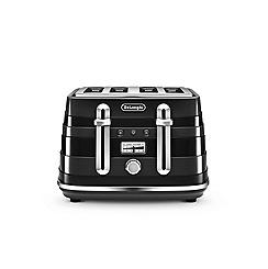 DeLonghi - Black avvolta 4 slice toaster CTA4003.BK