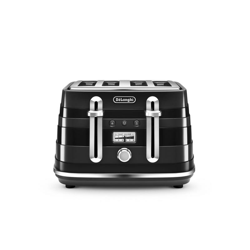 DeLonghi Black Avvolta 4 slice toaster CTA 4003.B