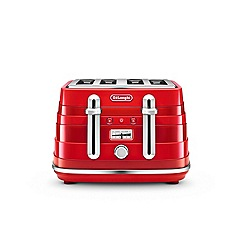 DeLonghi - Red avvolta 4 slice toaster CTA4003.R