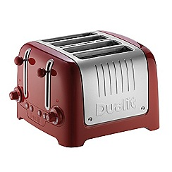 Dualit - Red with brushed steel 4 slots lite toaster 46218