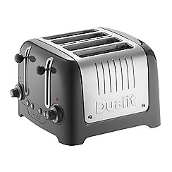Dualit - Grey with brushed steel 4 slots lite toaster 46219