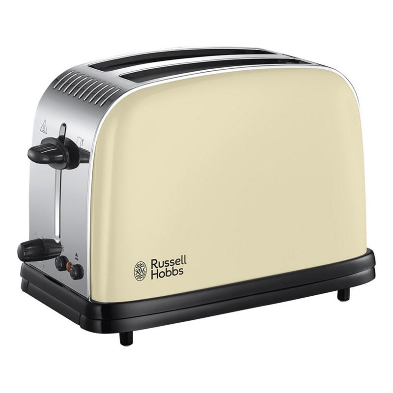 Russell Hobbs – Cream 'Colour Plus' 2 Slice Toaster 23334