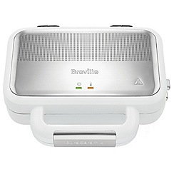 Breville - White high gloss duraceramic sandwich toaster VST074