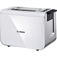 Bosch - White styline collection toaster 2 slice TAT8611GB