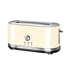 KitchenAid - Cream manual control 4 slot toaster 5KMT4116BAC