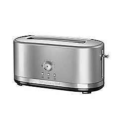 KitchenAid - Silver manual control 4 slot toaster contour 5KMT4116BCU