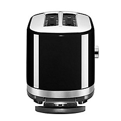 KitchenAid - Black manual control 4 slot toaster 5KMT4116BOB