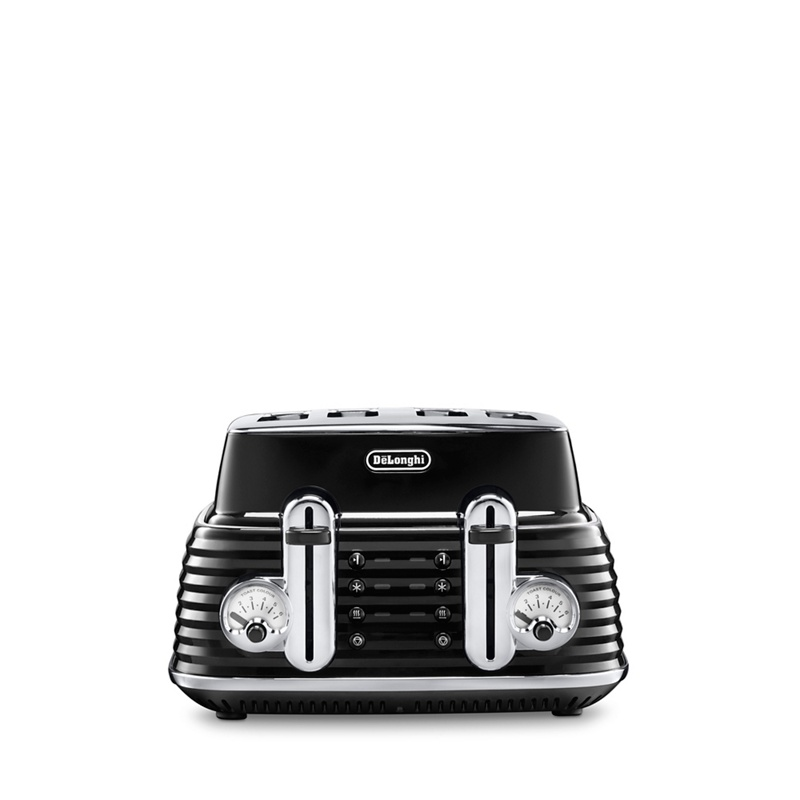 DeLonghi Black Scultura 4 slice toaster CTZ4003.BK